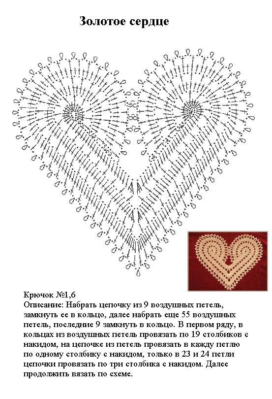 салфетка золотое сердце.